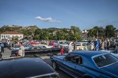 Überblick über amcar Ausstellung Lizenzfreies Stockfoto