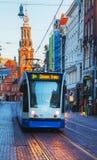 Überblick über Amsterdam mit Munttoren Lizenzfreies Stockfoto