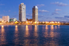 Überblick über Barcelona Spanien zu Mananecer Lizenzfreie Stockbilder