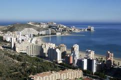 Überblick über Cullera (Valencia), Spanien Stockbilder