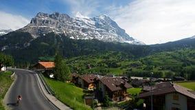 Überblick über das Dorf bei Grindelwald Stockbild