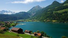 Überblick über das Dorf bei Lungern Lizenzfreie Stockfotografie