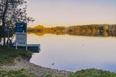 Überblick über dem Natur preservence Bereich von See viehofen Lizenzfreie Stockbilder