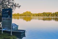 Überblick über dem Natur preservence Bereich von See viehofen Lizenzfreies Stockfoto