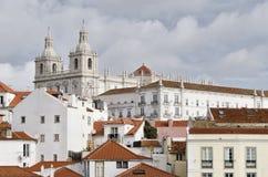 Überblick über den Alfama-Bezirk, in Lissabon Portugal Lizenzfreie Stockbilder