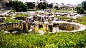 Überblick über den Ggantija-Tempeln Lizenzfreie Stockbilder