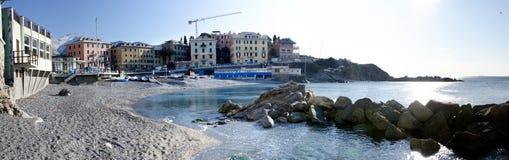 Überblick über den Strand am Quarto Stockfotografie