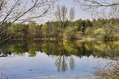 Überblick über die Bewahrungszone am See viehofen Stockfotografie