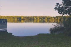 Überblick über die Bewahrungszone am See viehofen Stockfoto