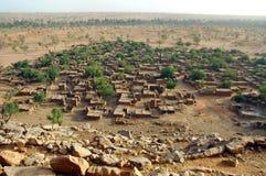 Überblick über ein Dogon Dorf Lizenzfreies Stockfoto