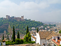 Überblick über Granada und Algambra Stockbilder