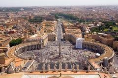 Überblick über Marktplatz von San Pietro Lizenzfreies Stockbild