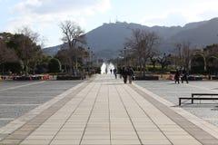 Überblick über Nagasaki-Friedenspark Lizenzfreies Stockfoto