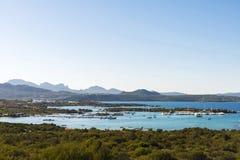 Überblick über Porto Cervo in Costa Smeralda in Sardinien, Italien Lizenzfreie Stockfotografie