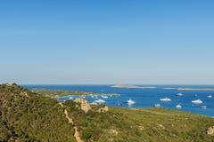 Überblick über Porto Cervo in Costa Smeralda in Sardinien, Italien Lizenzfreie Stockbilder