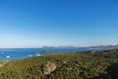 Überblick über Porto Cervo in Costa Smeralda in Sardinien, Italien Lizenzfreies Stockbild