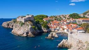 Überblick über ` s Johannes Fort in Dubrovnik, Kroatien Lizenzfreies Stockfoto