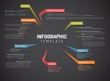 Überblick-Designschablone Vector Company infographic Lizenzfreies Stockbild