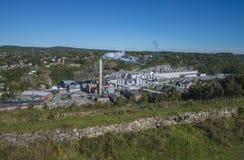 Überblick, saugbrugs Papierfabrik stockfotografie