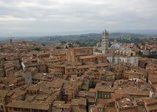 Überblick Siena-Italien lizenzfreie stockfotografie