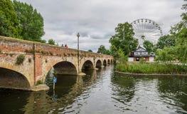 Überbrücken Sie zum Riesenrad, Stratford nach Avon, William Shakespeare-` s Stadt, West Midlands, England stockbild