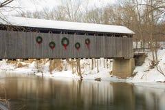 Überdachte Brücke in Ada Lizenzfreie Stockbilder
