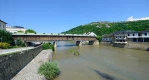 Überdachte Brücke in Lovech Lizenzfreie Stockfotos