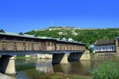Überdachte Brücke Lovech Bulgarien stockfotografie
