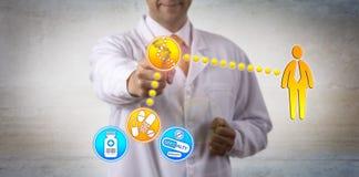 Übereinstimmungsgenetische ausstattung des Patienten mit Droge lizenzfreie stockfotos