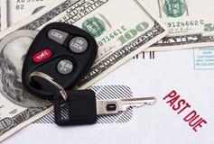 Überfällige Autozahlung Lizenzfreies Stockfoto