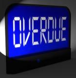 Überfällige Digitaluhr-Durchschnitte hinter Zeit oder überfällig Lizenzfreies Stockfoto