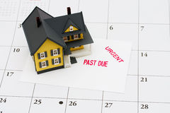 Überfällige Hypothek Lizenzfreie Stockfotografie