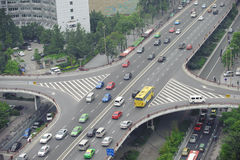 Überführung in der Porzellanstadt Chengdu Lizenzfreies Stockfoto