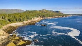 Überführung Hyperlapse über Acadiaufer in Maine stock footage