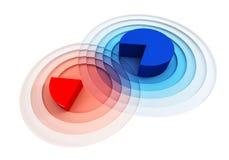 Überfahrt des Diagramms 3d lizenzfreie abbildung