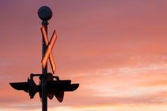 Überfahrt-Signal Stockbilder