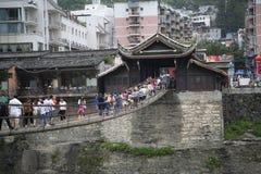 Überfahrthängebrücke Lizenzfreie Stockbilder