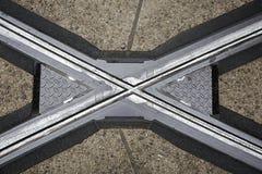 Überfahrtrillenschienen Belgien, Gent Lizenzfreie Stockbilder