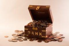 Überfließende Bank Lizenzfreies Stockbild