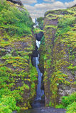 Überfluss habender szenischer Wasserfall Lizenzfreie Stockbilder