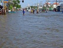 Überflutete Straße Stockfoto