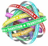 Übergangs-Änderungs-Prozess-Entwicklung fasst Schleifen ab Lizenzfreies Stockbild