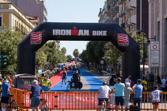 Übergangsbereich an Pescara-` s Ironman 70 3 Lizenzfreies Stockbild