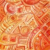 Übergeben Sie das gezogene digitale freihändige abstrakte geometrische Muster, flüchtig, Stockfotos