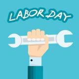 Übergeben Sie das Halten des Schlüssels - Konzept des amerikanischen Werktags Stockbild