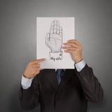 Übergeben Sie die gezogene Hand, die mit MEINEM ABSTIMMUNGS-Text angehoben wird Lizenzfreie Stockfotografie