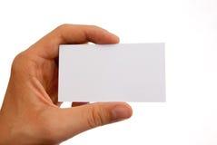 Übergeben Sie ein businesscard Lizenzfreie Stockbilder