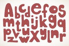 Übergeben Sie gezogene Buchstaben im amerikanischen Sternenbanner im Muster Stockfotos