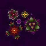 Übergeben Sie gezogene Mandala, Rundschreiben farbiges Muster für Stockbilder