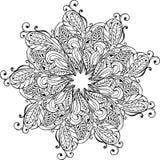 Übergeben Sie gezogene Mandalablumen und -paisley für die Antidruckfarbe lizenzfreie abbildung